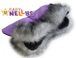 Rukávník ke kočárku s kožešinkou Baby Nellys ®LUX Eskymo - 08