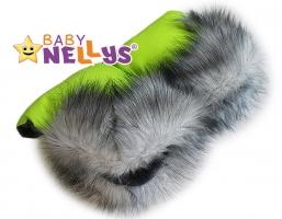 Rukávník ke kočárku s kožešinkou Baby Nellys ®LUX Eskymo - 11