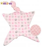 Mazlík pro nejmenší látkový Baby Nellys ® - Sloni růžoví