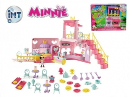 Minnie restaurace 40x15x28cm plast na baterie se světlem a zvukem + 2 figurky s doplň