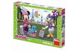 Puzzle Minnie v Paříži 24 dílků 26,4x18,1cm v krabici 27x19x3,5cm