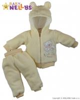 Chlupáčkový komplet OUŠKO Baby Nellys ® - krémový