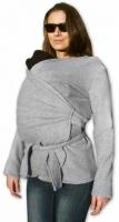 Zavinovací kabátek pro nosící, těhotné - fleece - šedý
