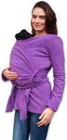 Zavinovací kabátek pro nosící, těhotné - fleece - fialový