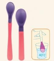 Plastové lžičky Canpol Babies THERMO - 2ks