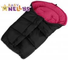 Fusák nejen do autosedačky Baby Nellys ® MINKY - sytě růžový