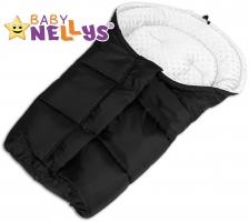 Fusák nejen do autosedačky Baby Nellys ® MINKY - bílý