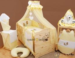 Luxusní mega set s moskytierou - Méďové v krémové