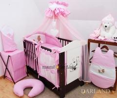 Luxusní mega set s moskytierou - Méďové v růžové