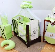 Luxusní mega set s moskytierou - Méďové v zelené