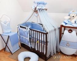 Luxusní mega set s moskytierou - Medvídek se srdíčkem modré