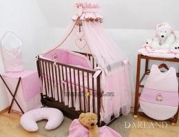 Luxusní mega set s moskytierou - Medvídek se srdíčkem růžové