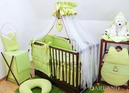 Luxusní mega set s moskytierou - Medvídek se srdíčkem zelené