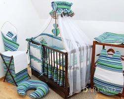 Luxusní mega set s moskytierou - Medvídek se srdíčkem pr. modro