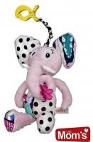 Edukační hračka Hencz s pískátkem SLONÍK - růžový