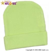 Novorozenecká čepička  - zelená
