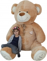 XXL MAXI Plyšový Medvěd OBR - Baby Nellys - béžový - 250 cm