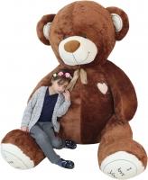 XXL MAXI Plyšový Medvěd OBR - Baby Nellys - tm. hnědý - 250 cm