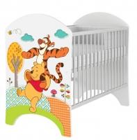 Dětská postýlka Disney Medvídek PÚ a Tygřík 120x60cm