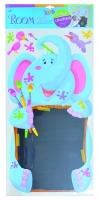 Nástěnná dekorace - samolepka s tabuli - slon