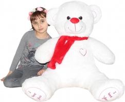 Plyšový MEDVĚD Baby Nellys 120 cm I LOVE - bílý