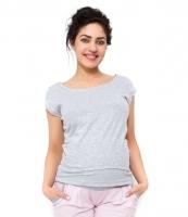 Těhotenské triko/halenka Celina - světle šedá