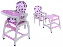 Jídelní stoleček ECO TOYS 2v1 - fialový