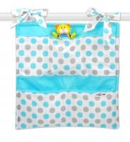 Kapsář Baby Nellys ® Puntíky Baby - modrý
