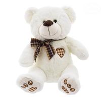 Plyšový medvídek 43cm - bílo/smetanový