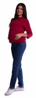 Těhotenské kalhoty - tmavý jeans