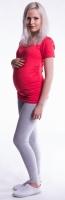 Těhotenské legíny - šedý melír