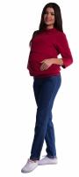 Těhotenské kalhoty letní bez břišního pásu - tmavý jeans