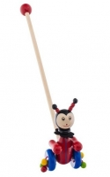 Dřevěná jezdící hračka Euro Baby - brouček