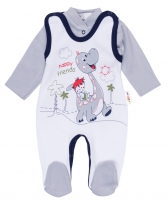 2 dílná sada - Bavlněné dupačky s košilkou DINO Baby Nellys ®- Happy Friends