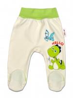 Bavlněné polodupačky DINO Baby Nellys ®- Hello - krémové