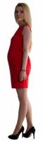 Těhotenské letní šaty s kapsami - červené