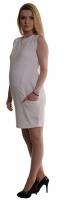 Těhotenské letní šaty s kapsami - ecru