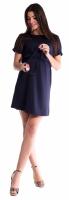 Těhotenské šaty s vázáním - granát