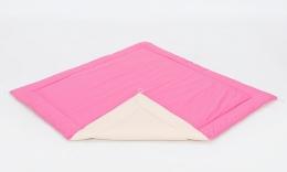Hrací, přebalovací podložka 120x120cm - růžová-béžová