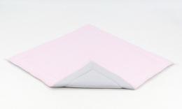 Hrací, přebalovací podložka 120x120cm - sv. růžová-šedá