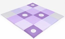 Hrací, přebalovací podložka 160x160cm - fialová s výšivkami