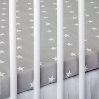 Bavlněné prostěradlo - šedé/bílé hvězdičky