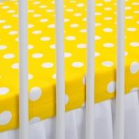 Bavlněné prostěradlo - žluté/bílé puntíky