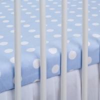 Bavlněné prostěradlo - modré/bílé puntíky