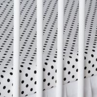 Bavlněné prostěradlo - bílé/černé tečky