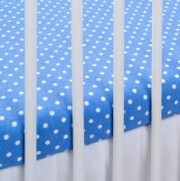 Bavlněné prostěradlo - modré/bílé tečky