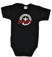 Body ROCK STAR BABY krátký rukáv - černé