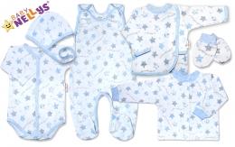 Soupravička pro předčasně narození miminka do porodnice 7D Baby Nellys ®- Hvězdičky modré