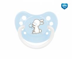 Dudlík symetrický Canpol Babies 6-18m B, Little Cutie - bledě modrý