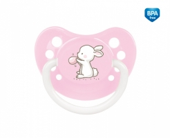 Dudlík anatomický Canpol Babies 6-18m B, Little Cutie -sv. růžový